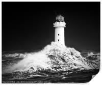 "New Brighton lighthouse, "" Facing the storm"", Print"