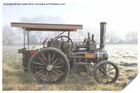 Traction Engine in the fog, Print