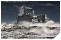 "RFA. Fort Austin "" Facing the storm"", Print"