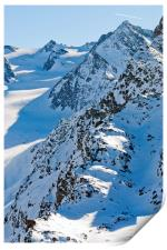 French Alps Mont Vallon Meribel Mottaret France, Print
