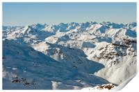 Meribel Mottaret Mont Vallon French Alps, Print