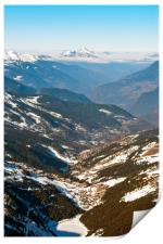 Meribel Mottaret 3 Valleys French Alps France, Print