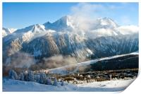 Courchevel 1850 3 Valleys ski area French Alps , Print
