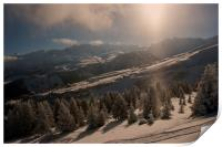 Courchevel 1850 3 Valleys French Alps France, Print