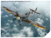 Spitfire In The Clouds 1, Print