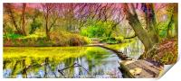 The Stepping Stones - Box Hill, Print