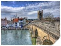 Henley On Thames And The Angel, Print