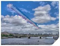 Red Arrows Over London, Print