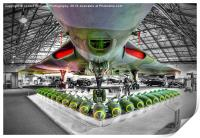 Vulcan and Bombs - R.A.F. Museum Hendon 1, Print