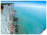 Chalk Cliffs near Beachy Head, Print