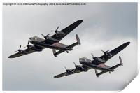 The Two Lancasters - Dunsfold Wings And Wheels, Print