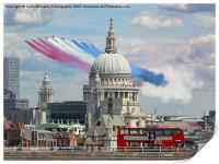 The Red Arrows And Saint Pauls Cathederal, Print
