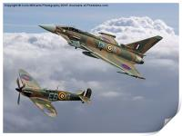 Spitfire and Typhoon Battle of Britain 3, Print