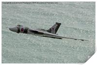Vulcan XH558 from Beachy Head 4, Print