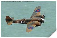 Bristol Blenheim from Beachy Head, Print