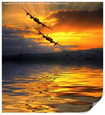 The Two Lancasters at Sunset 2, Print