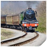 The flying Scotsman on the  KWVR - 3, Print