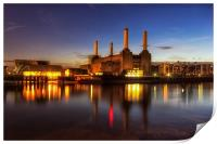 Battersea Twilight, Print
