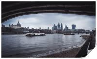 London Skyline by the Thames, Print