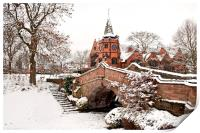 """PORT SUNLIGHT the Dell (Winter scene), Print"