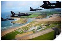 Hawks over RAF Valley, Print