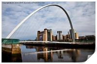 Millennium Bridge and Baltic, Print