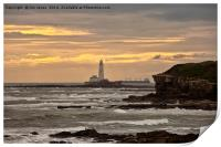 St Mary's Island and Lighthouse, Print