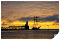 The Flying Dutchman leaving port, Print