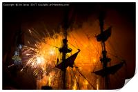 Fireworks and Tall Ships 3, Print
