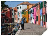 Colourful Burano, Print