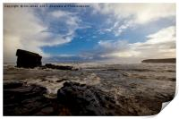 Stormy Collywell Bay, Print