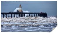 Stormy weather at the river mouth, Print