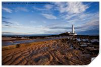 Another daybreak at St Mary's Island, Print