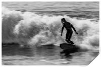 Surfer on a wave, Print