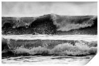 surfer paddling out, Print