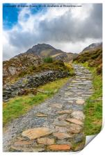Trail To Tryfan Mountain Snowdonia, Print