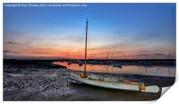 After the sunset Brancaster Staithe, Print