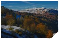 A view from Loughrigg, Print