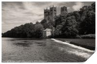 Durham Cathedral and the Mill, Print