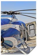 Helicopter abstract open right hand door, Print