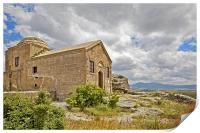 Isolated church in wilderness of Cappadocia, Print
