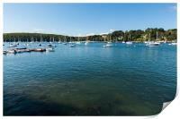 Yachts On Helford River, Print