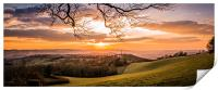 Devon Horizon Sunset, Print