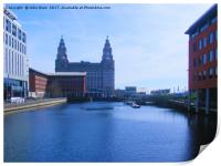Liver Building from Princes Dock, Print