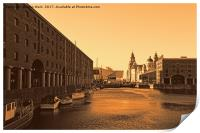 Royal Albert Dock And the 3 Graces, Print