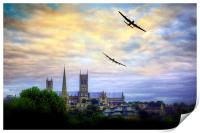 Lincoln Cathederal Flyby, Print