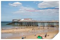 Red Arrows Flying Over Cromer Pier , Print