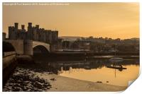 Conwy Castle and harbour, Print