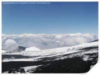 The Summit of Mount Etna, Print