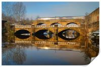 Norfolk Bridge Train & Reflections, Print